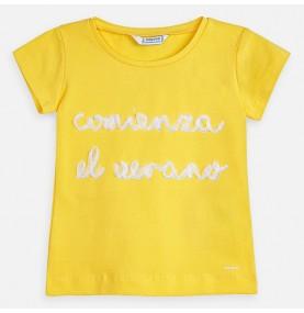 Camiseta manga corta letras...
