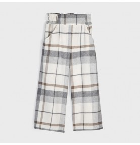Pantalón culotte cuadros chica