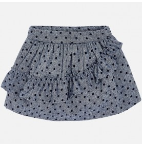 Falda lunares para niña